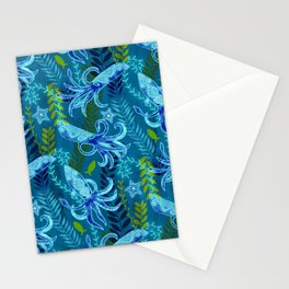 Sapphire Squid  Stationery Cards