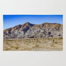 Looking Back towards Granite Mountain across the Highway in the Anza Borrego Desert State Park Rug