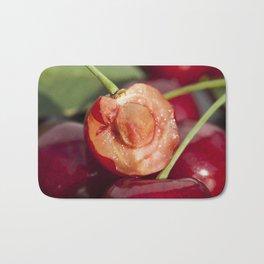 red ripe cherries Bath Mat
