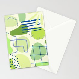 Suburbia from Above - Abstract Postmodern Retro Pattern Stationery Cards