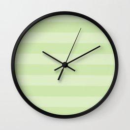 green on green stripes Wall Clock