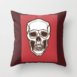 Mannequin of Death (red palette) Throw Pillow