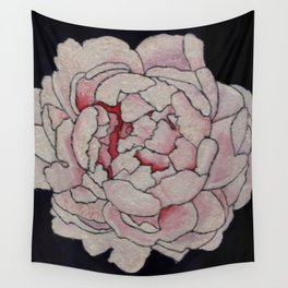 Stained Glass Peony Wall Tapestry