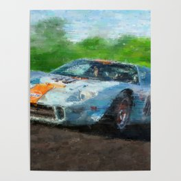 Ford GT 40, Gulf Poster