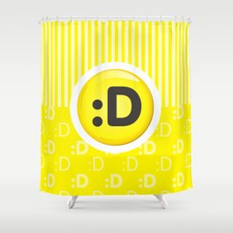 Yellow Writer's Mood Shower Curtain