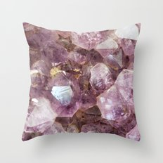 Amethyst and Gold Throw Pillow