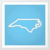 north carolina Art Prints featuring North Carolina by Brooke Hamilton
