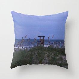 Beach at Dusk Throw Pillow