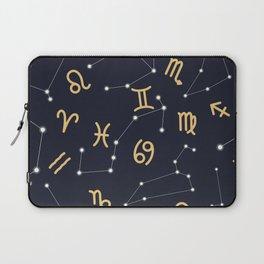 Zodiac signs seamless pattern Laptop Sleeve