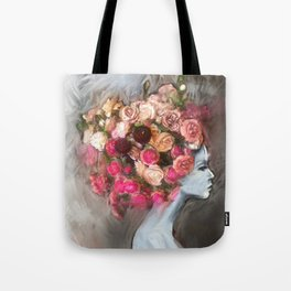Flower Bloom Girl Tote Bag