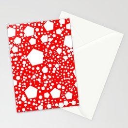 "Kalinka. ""Candy apple"" color Stationery Cards"