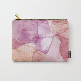 Fantasy alcohol ink pink marble Carry-All Pouch