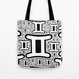 Gemini Zodiac doodle Tote Bag