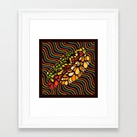 hot dog Framed Art Prints featuring Hot Dog by Maxime Roy