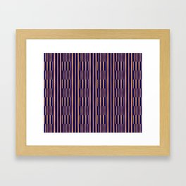 Stripe Yellow/Purple Framed Art Print