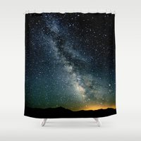 milky way Shower Curtains featuring The Milky Way by 2sweet4words Designs