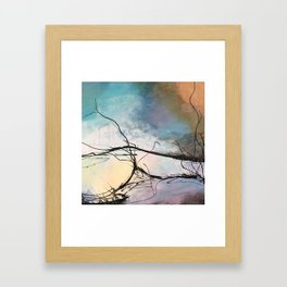 Heaven and Hell Abstract Painting by Jodi Tomer Cloudy Painting Sticks Framed Art Print
