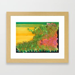 Seaweed City Framed Art Print