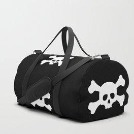 Simple White Crossbones Skull Duffle Bag