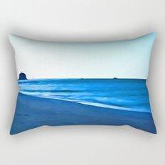 Driftwood on a Beach in the Dying Light Rectangular Pillow