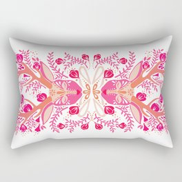 Floral Antlers – Peachy Pink Palette Rectangular Pillow