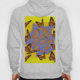 MONARCH BUTTERFLIES ABSTRACT ON YELLOW-GOLD Hoody