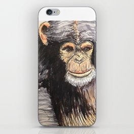 Chimpanzee Guy iPhone Skin