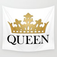 queen Wall Tapestries featuring Queen by Mariah Williams