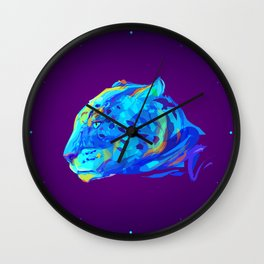 Neon Bars Wall Clock