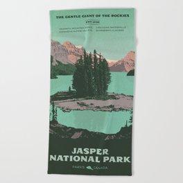 Jasper National Park Poster Beach Towel