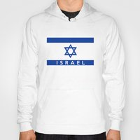 israel Hoodies featuring Israel country flag name text  by tony tudor