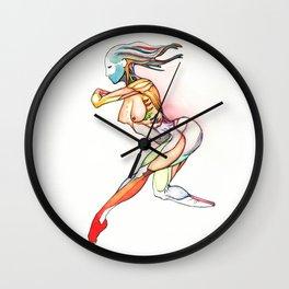 Her blade, nude female dancer, NYC artist Wall Clock