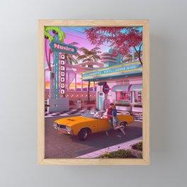 First Kiss 80s Nostalgia Framed Mini Art Print