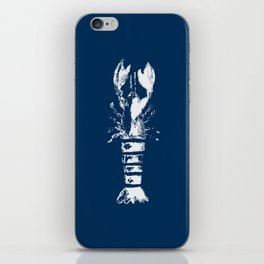 Nautical Themes, Lobster in Blue iPhone Skin