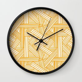 Sketchy Abstract (Orange & White Pattern) Wall Clock