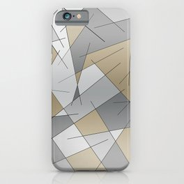 ABSTRACT LINES #1 (Grays & Beiges) iPhone Case