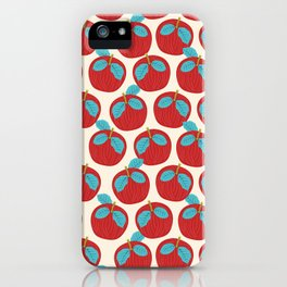 Fruity February Apples iPhone Case