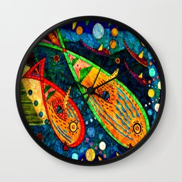 A Whale of a Time - Abstract Wall Clock