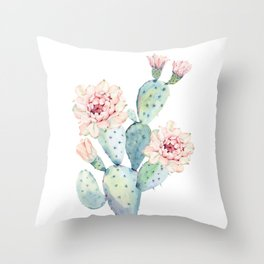 The Prettiest Cactus Throw Pillow