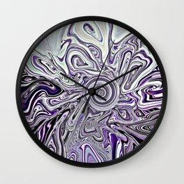 Lavender Lunacy Wall Clock