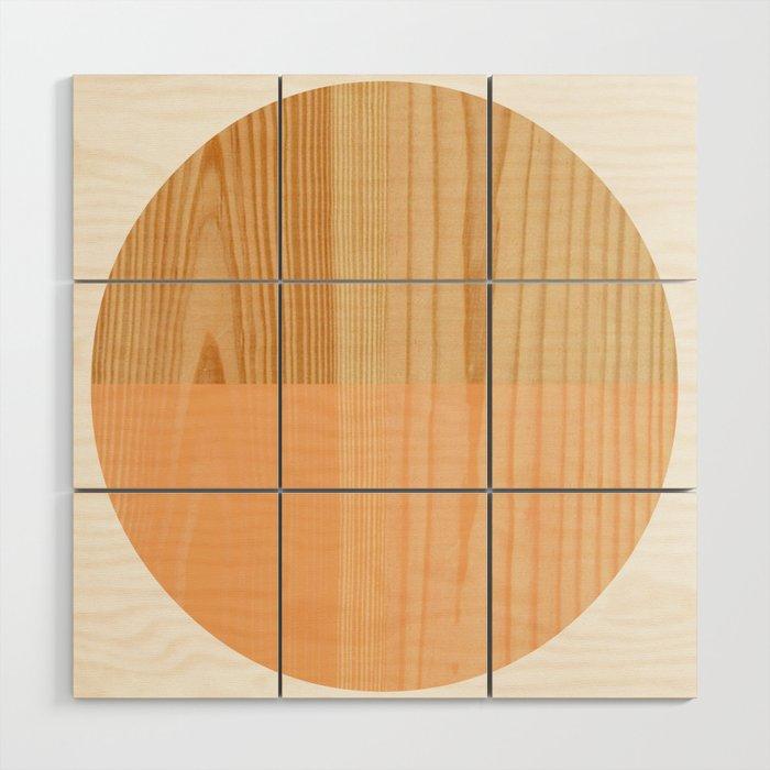 Tangerine Wooden Bead Wood Wall Art By Bunhugger