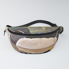 Wood Duck Water Foul Acrylic Painting Fanny Pack