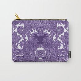 paisley vine in deep purple Carry-All Pouch