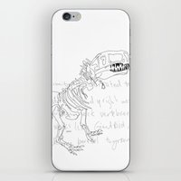t rex iPhone & iPod Skins featuring T Rex by Nanu Illustration