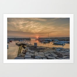 Summer sunset at Lanes Cove Art Print
