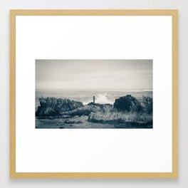 Waves of Kaikoura Framed Art Print