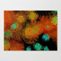 fireworks Canvas Prints featuring Fireworks by Imagology