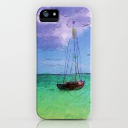 Lonely Boat iPhone Case