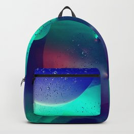 Vibrant Symmetry Oil Droplets Backpack