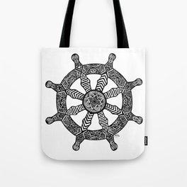 Zentangle - Dharma Wheel  Tote Bag